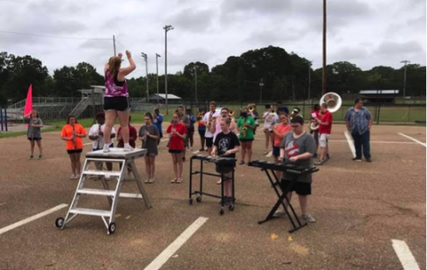The Pelahatchie High School Marching Band working hard to learn the halftime show during band camp over the summer. Photo Credit: Paula Thompson