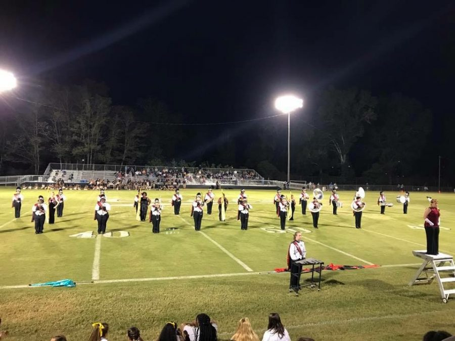 The Hatchie Band performing their halftime show in their new uniforms for the first time ever.