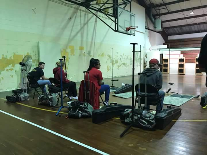 Pelahatchie High School Varsity MarksmanSHIP team day of the competition. From Left to Right: Blaine White, Chyanne Myers, Maria Banuelas, and Jacob Boykin.