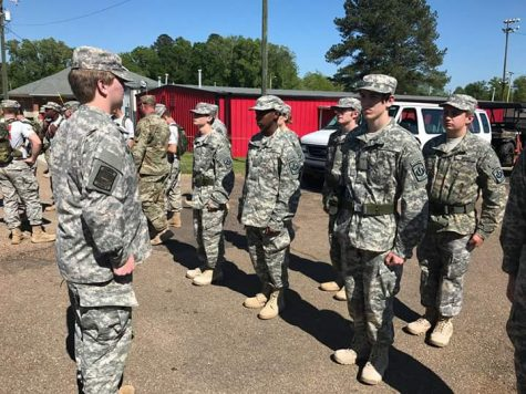 ROTC students participate in the JROTC Program for Accreditation Inspection