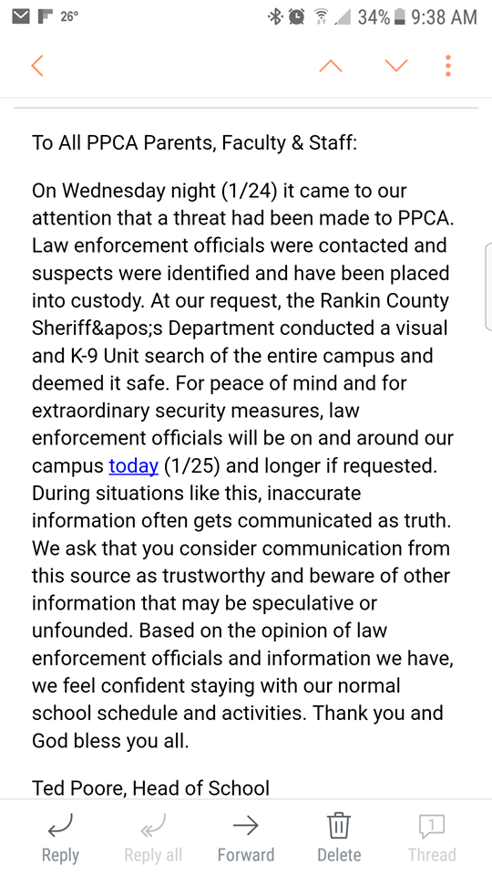 Social Media Threat To RCSD