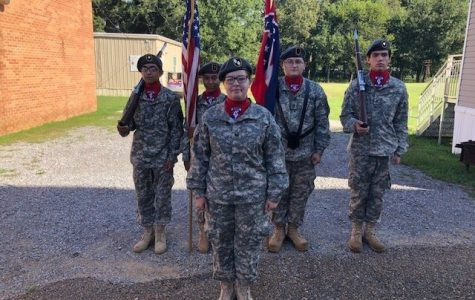 Pelahatchie JROTC Color-Guard Presented Colors at Muscadine Jubilee