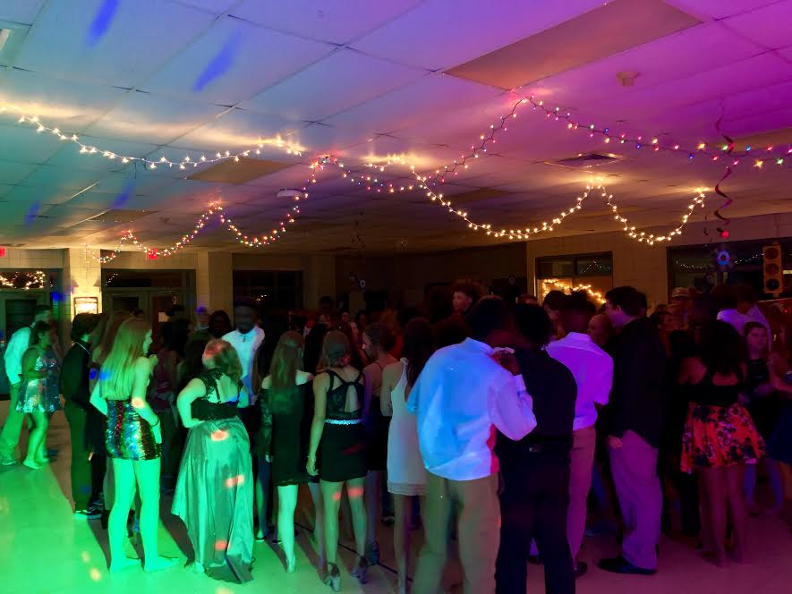 Homecoming Dance participants waiting to dance. Photo credits to Kelsey Nobles