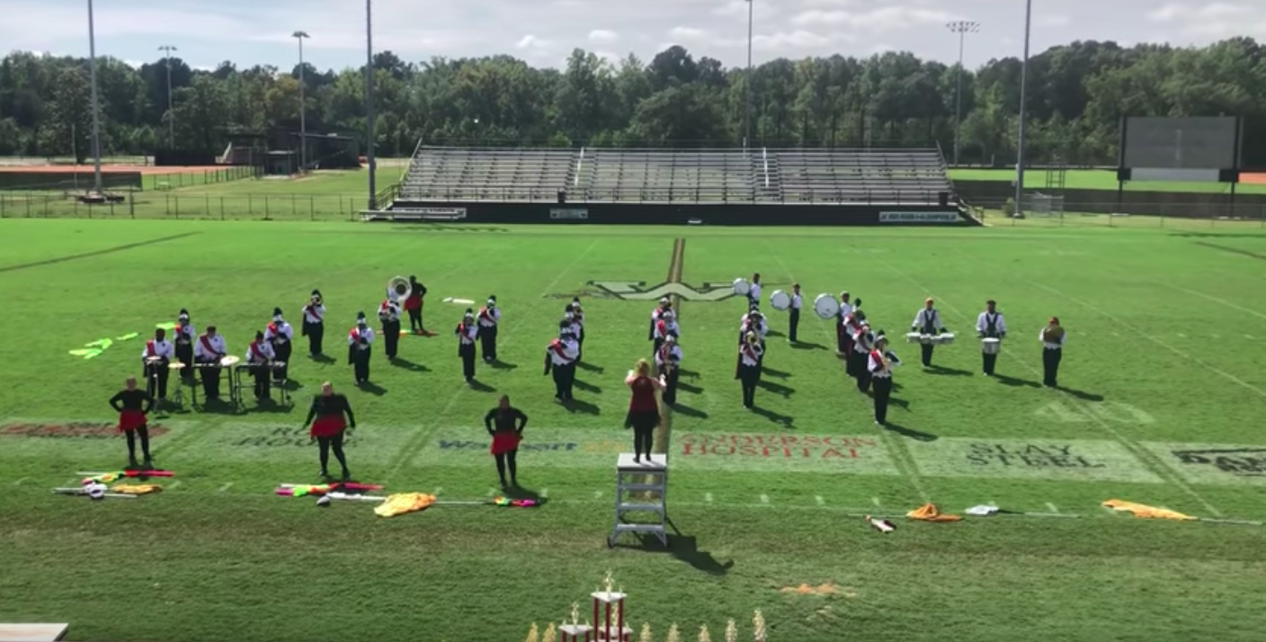 Pelahatchie band performs their halftime show at the showdown of the kingdom