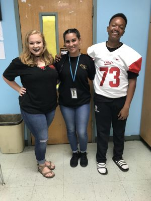Pictured from left to right: Sydni Goldman, Mrs. Lyles, and Jack Macklin.