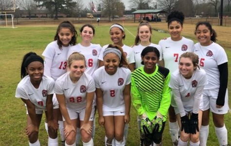 Back Row pictured from left to right - Jacey Cooper, Gloria Hospedales, Aniya Lloyd, Collins Doster, Keyanna Flores, and Elsi Munoz.   Front Row pictured from left to right - Aliza Myers, Brianna Galbraith, Tiara Collier, Zharia Hollifield, and Regan Sanders.   Photo By: Brianna Galbraith