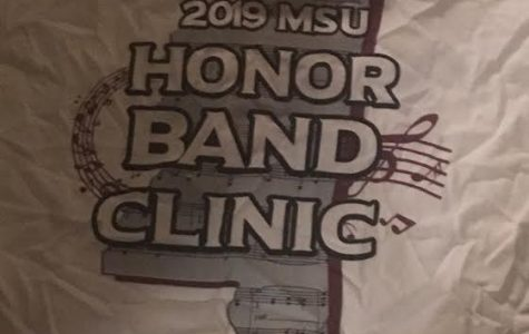 the tee shirt all students receive for participating in the 2019 MSU honor band.
