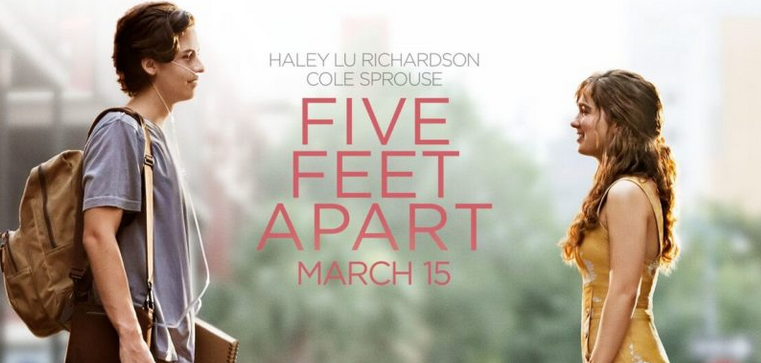 Five Feet Apart tells the touching story of two rebellious Cystic Fibrosis patients who put their lives in danger for love, strictly forbidden from being no closer than six feet to each other.