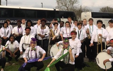 PHS Band Marches in Mardi Gras Parade