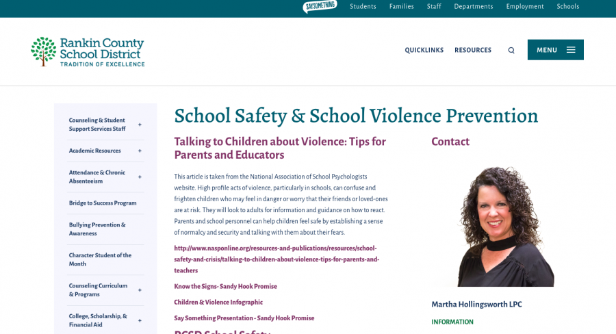 The+Rankin+County+School+District+website+provides+many+resources+to+help+both+parents+and+students+feel+safe+should+any+type+of+emergency+situation+take+place+at+one+of+our+schools.
