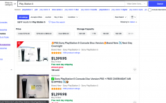 Scammers on Ebay sell the Sony Playstation 5 for more than double the retail price